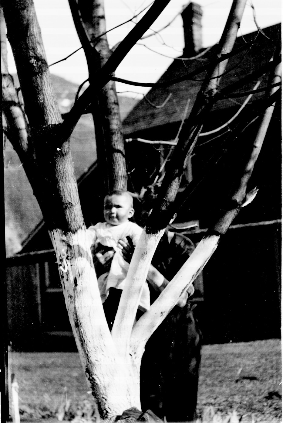 Baby Aida Southwel, prob. held by Fred S., possibly in North Bend, BC
