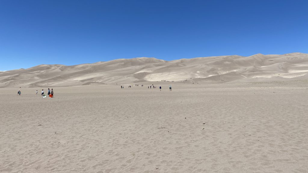 Families Enjoying the Dunes