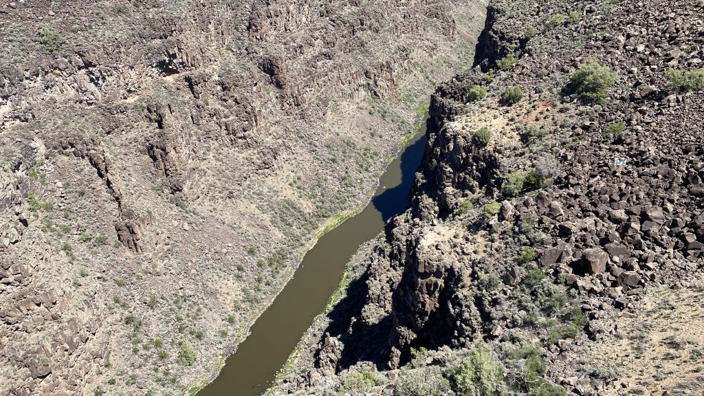 View from Rio Grande Gorge Bridge - 28 May 2021